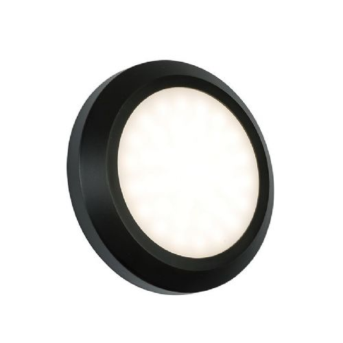 LED Black abs plastic & frosted Polycarbonate Wall Light BX61220-17 by Endon (Double Insulated)